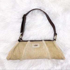 UGG Tan Suede Roll Barrel Shoulder Bag Purse